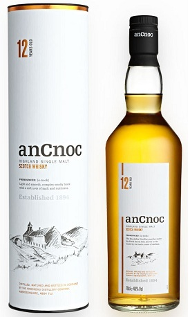 ancnoc 12 year scotch whisky