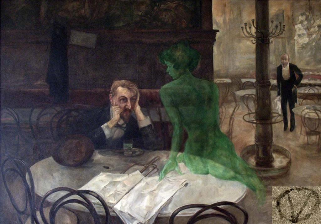 The Absinthe Drinker, Victor Olivia (1861-1928)