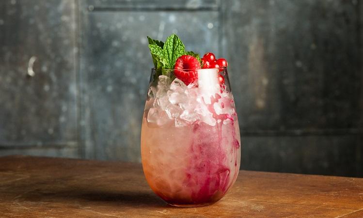 halloween cocktail berry transfusion