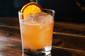 silver bourbon cider cocktail