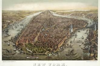 New York Manhattan, circa 1873