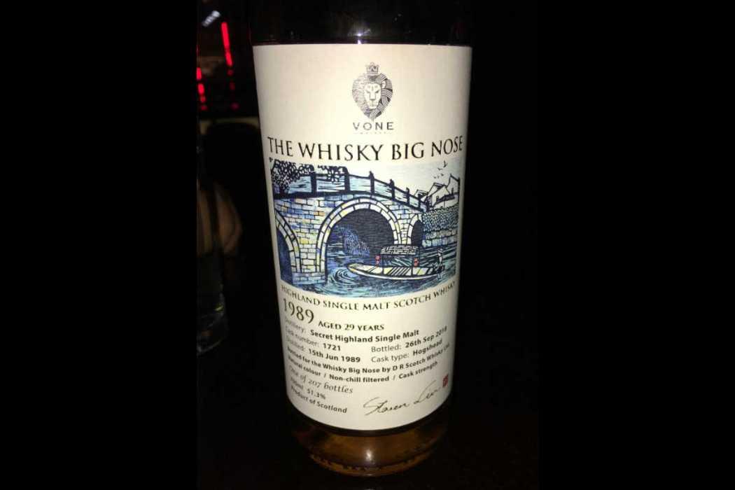 Balvenie 29 Year Whisky Big Nose