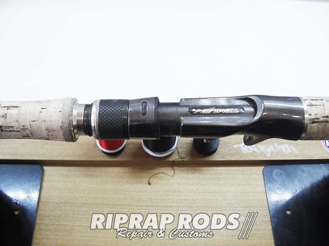 テムジン スカイスクレイパー のトップガイド修理交換 グリップカスタム写真