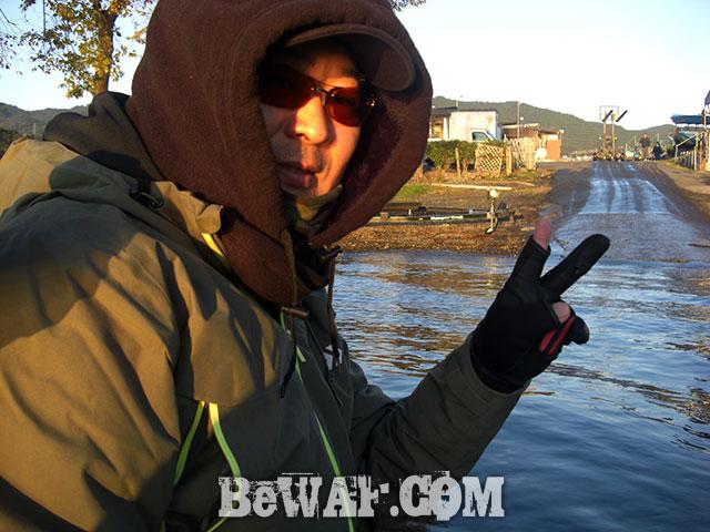 晩秋の琵琶湖 巻物に挑戦 写真