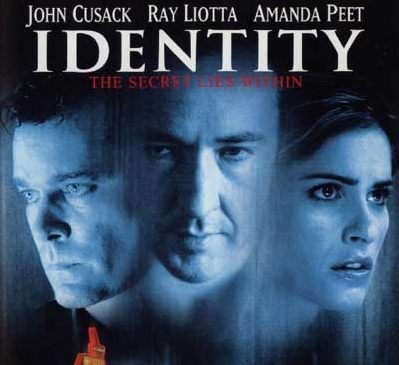 Movie poster for Identity John Cusack, Ray Liotta and Amanda Peet