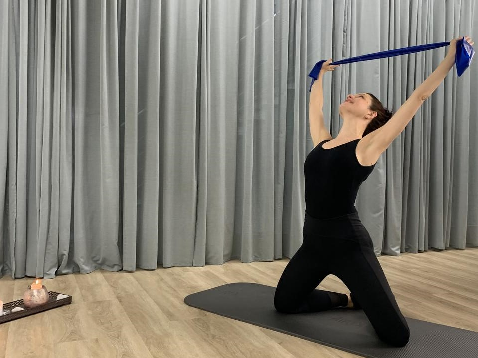 Pilates with Theraband intense training
