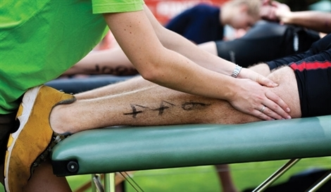 sports events table/chair massage
