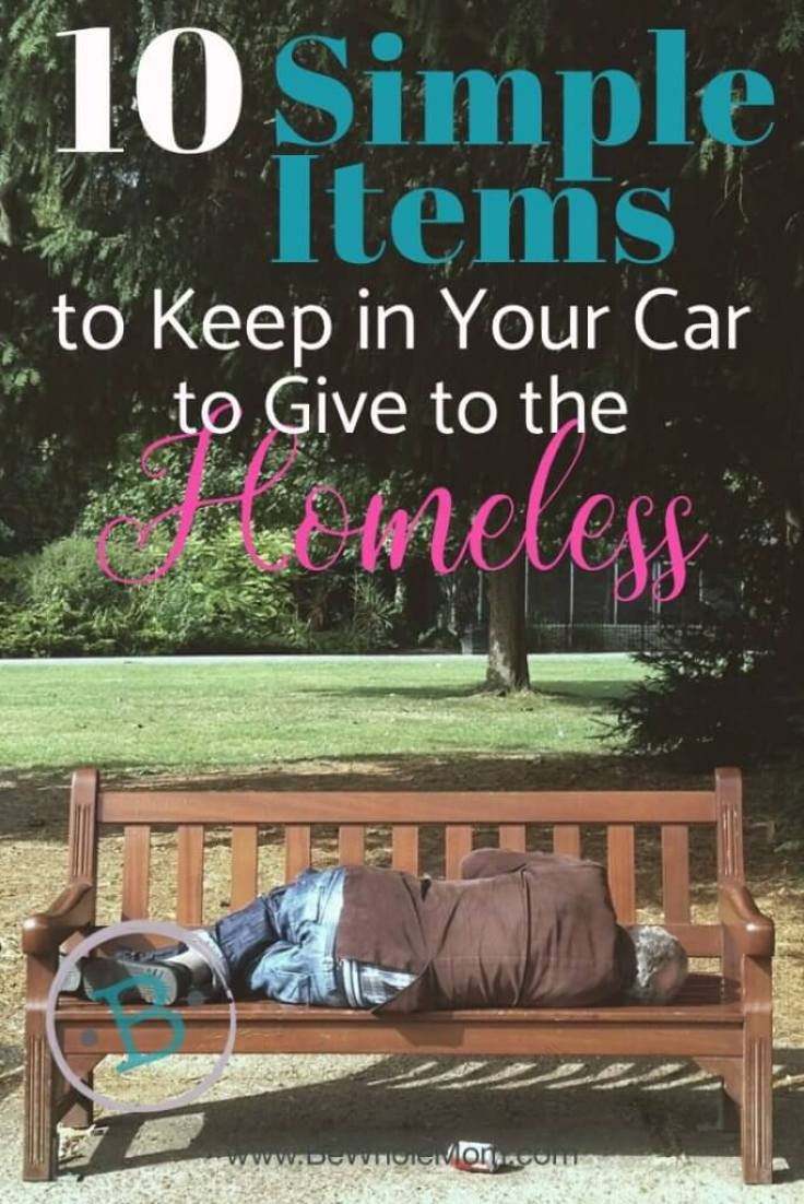10 Simple Items to Give to the Homeless