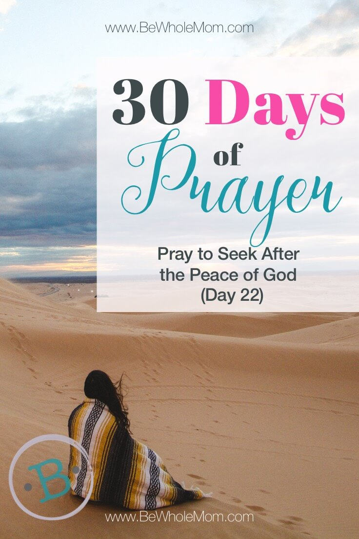 30 Days of Prayer: Pray to Seek After the Peace of God (Day 22)