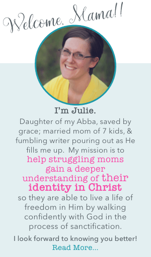 I help struggling moms gain a deeper understanding of their identity in Christ so they can live in freedom with Him