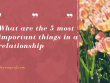 What are the 5 most important things in a relationship