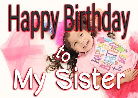 Happy Birthday to my sister