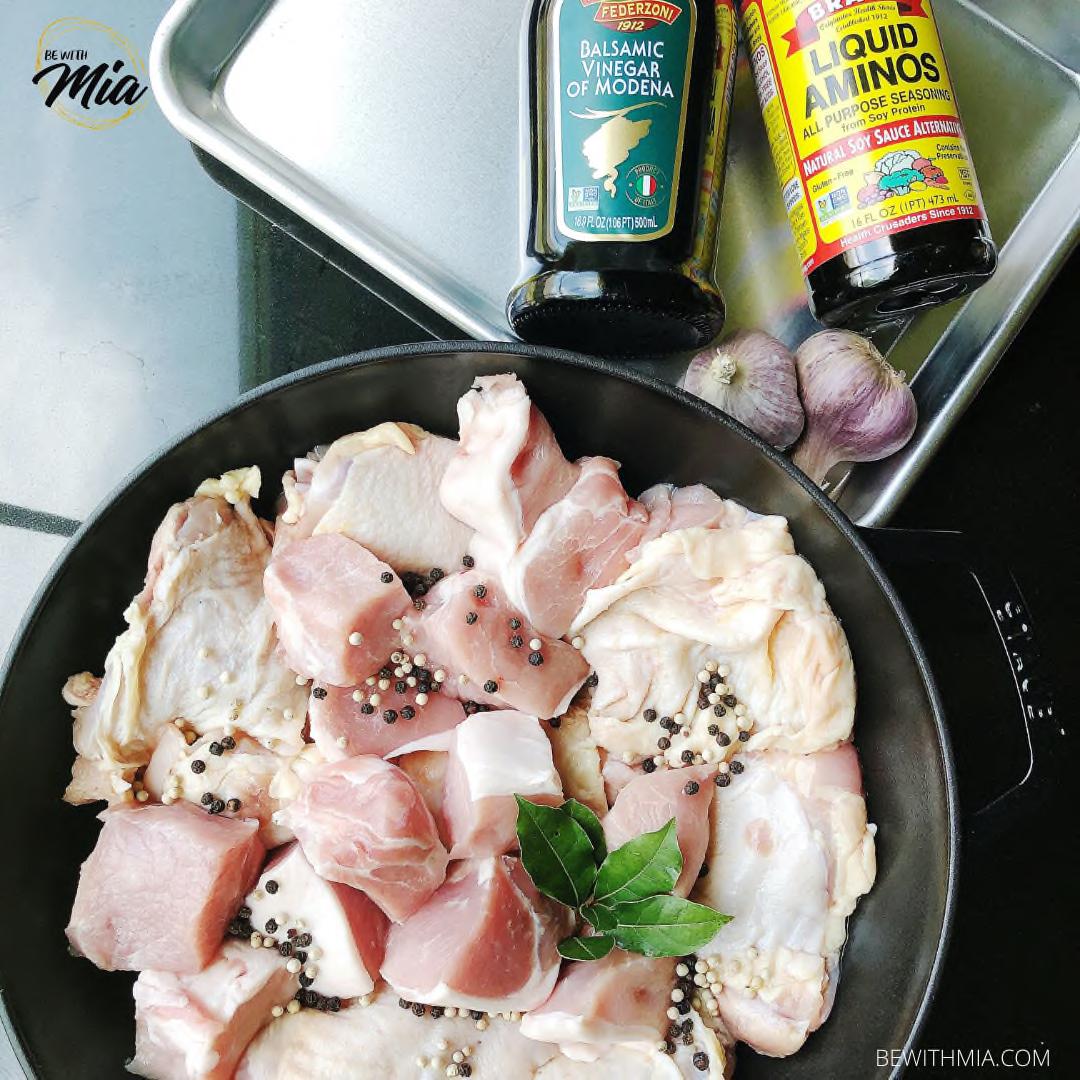 Ingredients of adobo
