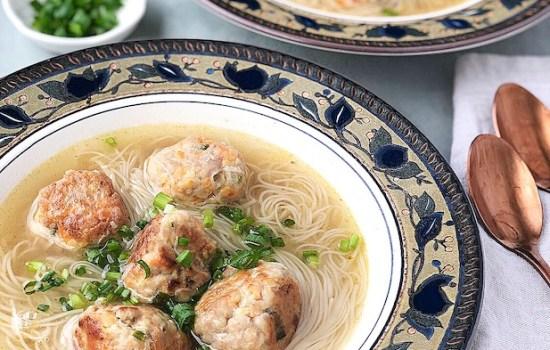 Almondigas – Meatballs Misua Soup