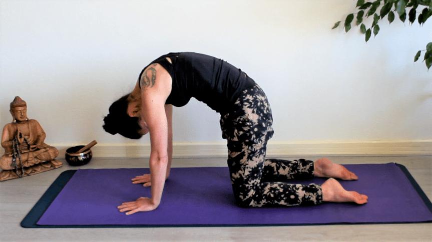 Kum-nye yoga pose 2