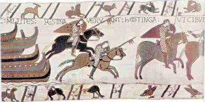 Norman knights ride from Pevensey to Hastings