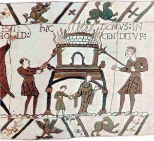 William's army destroy the surrounding settlements