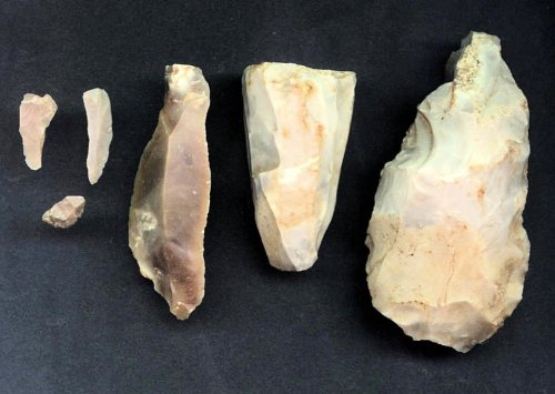 Bexhill Mesolithic tools - 1