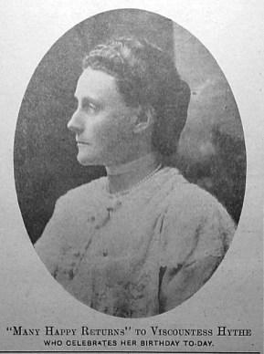 Viscountess Hythe on her birthday. 5th May 1917