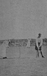 Cricket match. At the wickets. 18th Septemebr 1915 Chronicle