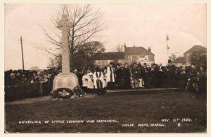 Little Common War Memorial Unveiling