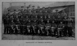 Photo. Sergeants at Cooden Hospital. Closing of Cooden Hospital 16th Aug. 1919 Bexhill Observer.