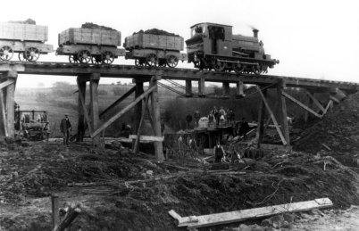 Crowhurst Line under construction c1898