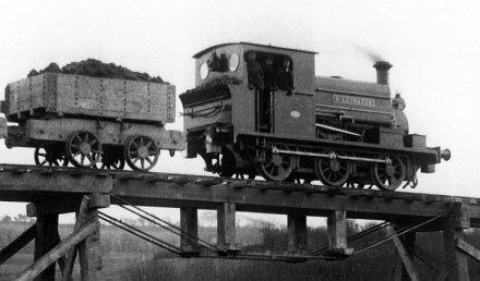 Crowhurst Line under construction, loco St Leonards c1898