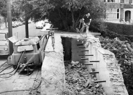 EGE-006 - Egerton Park air raid shelter demolished 14.8.1965
