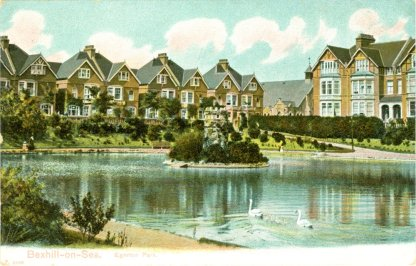 EGE-010 - Egerton Park Lake and Folly c1910
