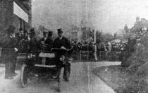 1902 Charter, Mr Bradney Williams Argyl car, Bexhill Town Hall