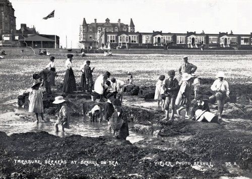 BCP-020 - Treasure Seekers, Central Parade, Bexhill c1910