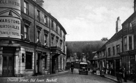 BOT-028 - Church Street, Old Town, Bexhill c1925 Bell Hotel