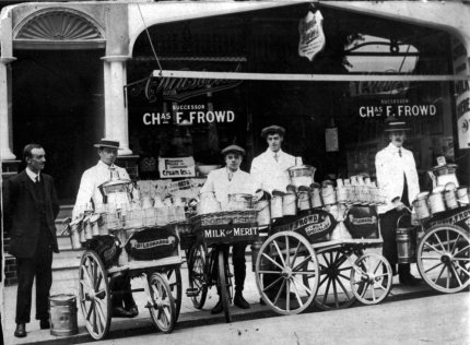 SHO-011 - Frowd's Dairy, 32 Sea Rd, Bexhill c1920