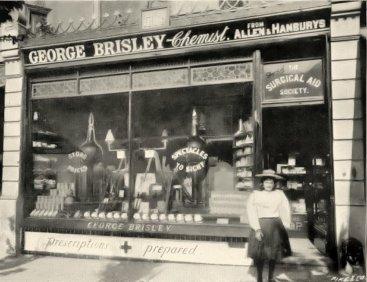SHO-013 - George Brisley, Chemist shop, Station Road, Bexhill c1895