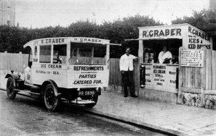 SHO-015 - Grabers Ice Cream Stall c1925