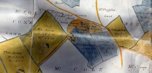 SID-001 - 1807 Sidley map extract