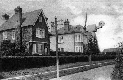 The Old Mill, The Ridge and New Mill House c1910