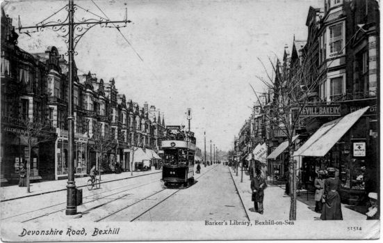 Trams on Devonshire Road - date unknown.