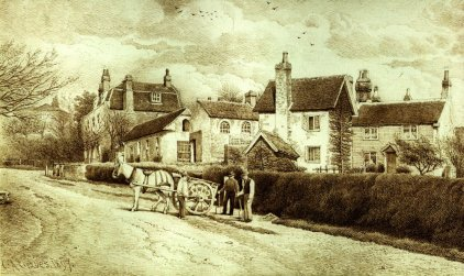 Belle Hill, drawing by Charles Graves, in 1897