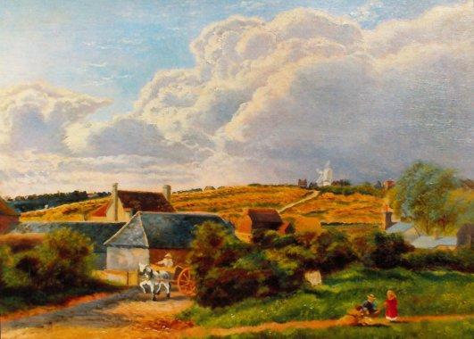 Belle Hill farm & Down Mill c1885