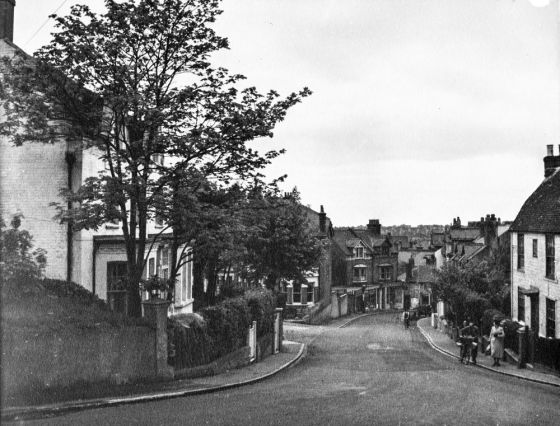 Junction of Belle Hill and Amherst Road in 1951