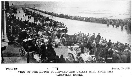 HOT-016 - Sackville -Hotel - view of Bexhill races - 1902