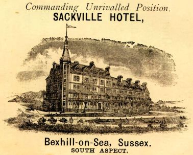 HOT-018 - Sackville Hotel, Bexhill - 1894