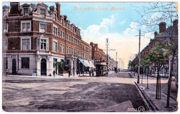HOT-027 - Devonshire Hotel, Devonshire Road (postcard -13-8-1908)