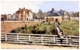 HOT-032 - Sidley Station and Pelham Hotel, Bexhill - c1909