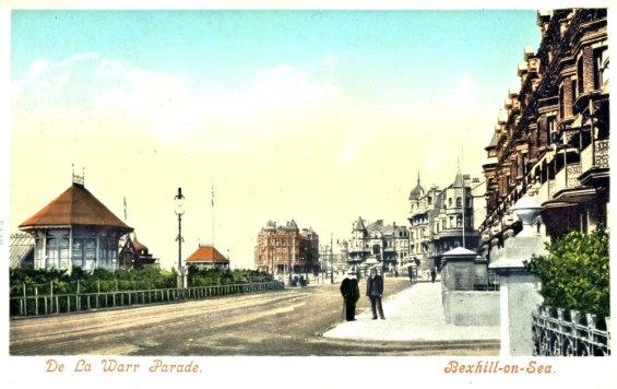 KUR-020 - The Kursaal & De La Warr Parade Bandstand, c1905