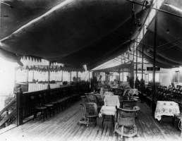 KUR-034 - The Kursaal's deck, c1900