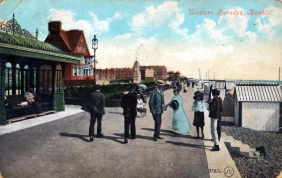 BWP-001 - West Parade, Bexhill (postcard) - c1905