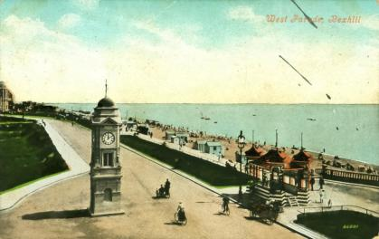BWP-025 - West Parade - Clock Tower - c1907
